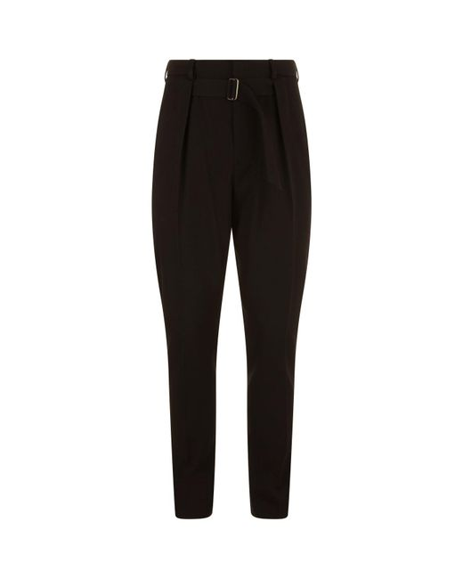 Givenchy - Black Tapered High-waisted Trousers for Men - Lyst