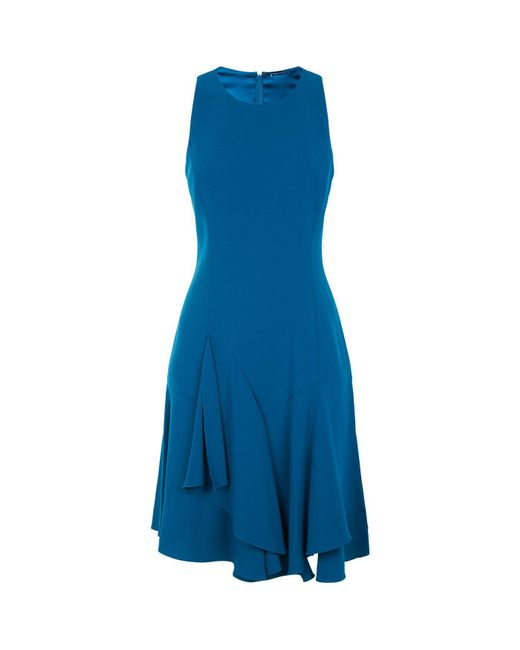 Elie Tahari - Blue Lalana Ruffle Dress - Lyst