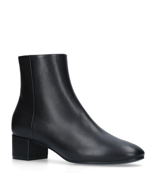 Balenciaga - Black Leather Logo Boots 40 - Lyst