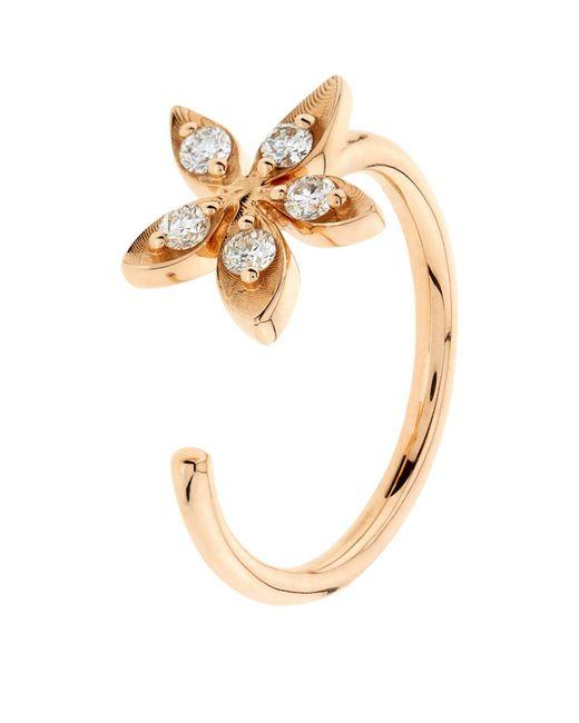 Bee Goddess | Metallic Apple Seed Diamond Midi Ring | Lyst