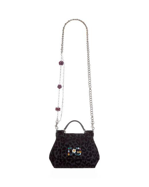 635100af2031 Lyst - Dolce   Gabbana Mini Leopard Print Sicily Bag in White