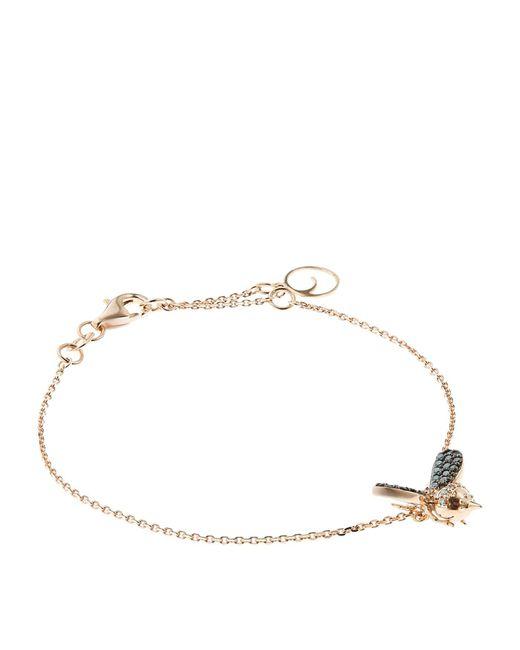 Bee Goddess - Blue Diamond Queen Bee Bracelet - Lyst