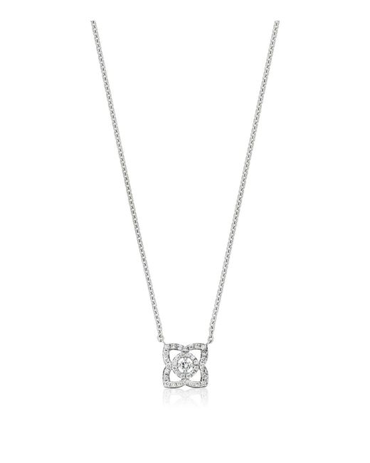 De Beers - Metallic Small White Gold Enchanted Lotus Pendant - Lyst