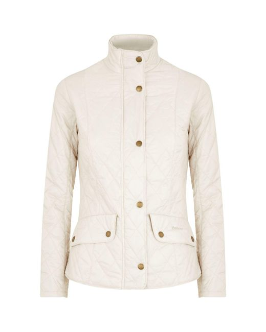 Barbour - Natural Fly Weight Cavalry Quilt Jacket - Lyst