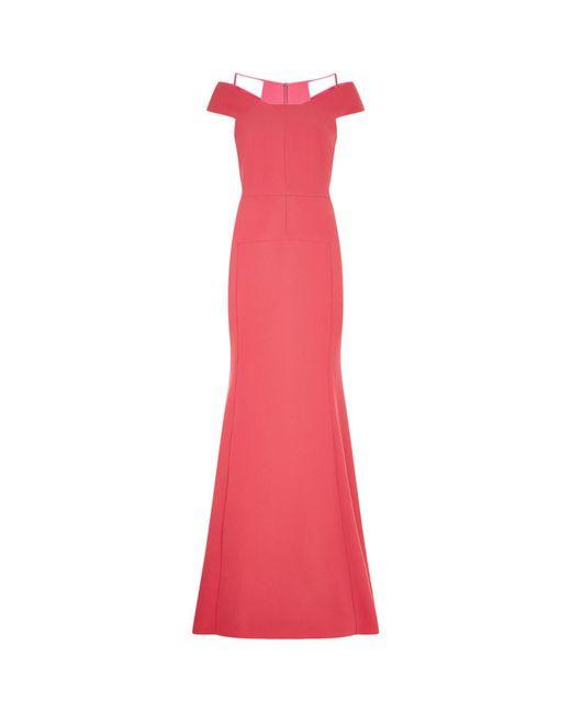 Roland Mouret | Pink Off Shoulder Gown | Lyst