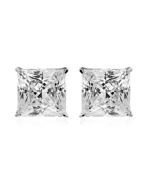 Carat* | Metallic 2ct Princess Studs | Lyst