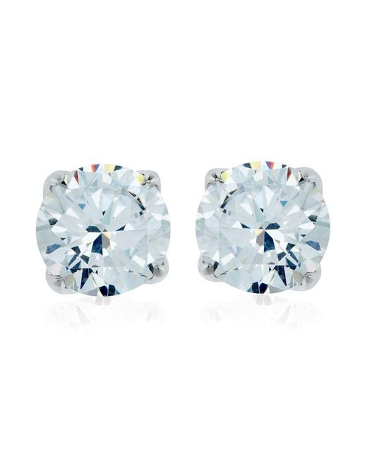 Carat* | Metallic 2ct Round Cut Stud Earrings | Lyst