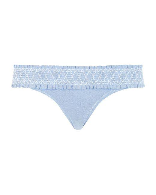 Heidi Klein - Blue Smocked Bikini Bottoms - Lyst