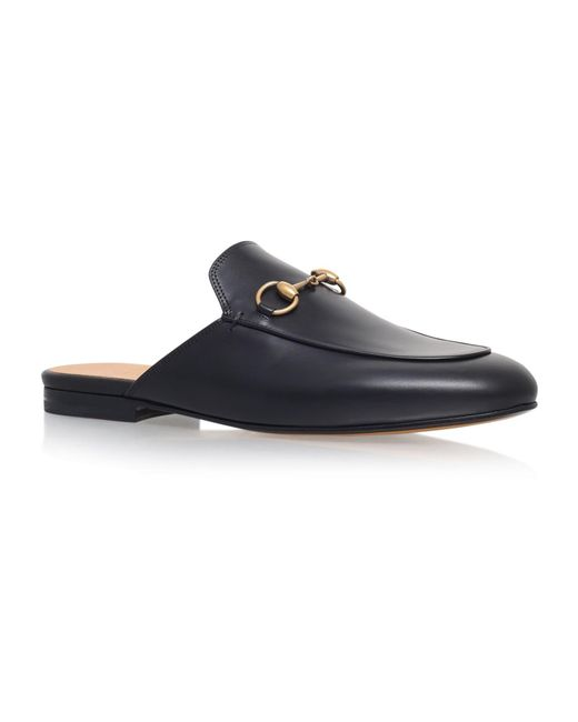 13b9108d491 Gucci Princetown Slide Loafers in Black - Save 20% - Lyst