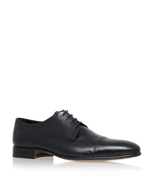 Stemar | Black Toe Cap Leather Derby for Men | Lyst