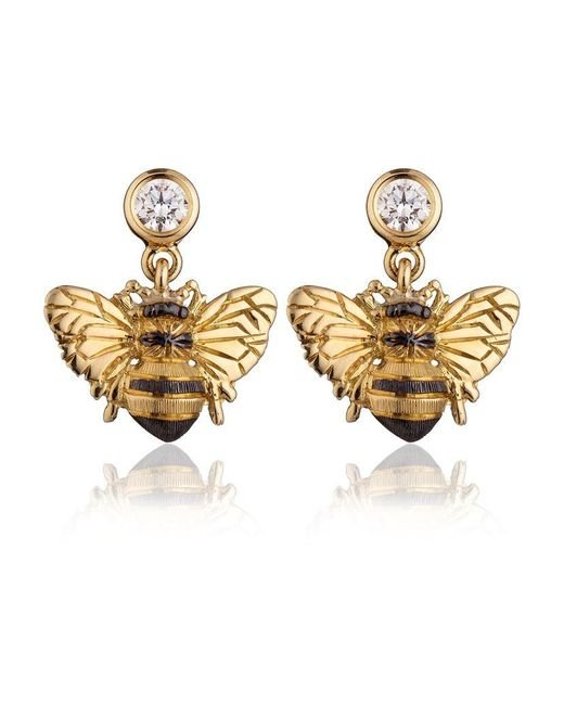Theo Fennell | Metallic Bee Drop Earrings | Lyst