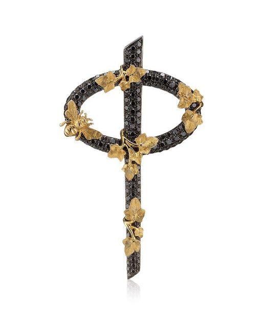 Theo Fennell | Black Diamond Secret Garden Phi Pendant | Lyst