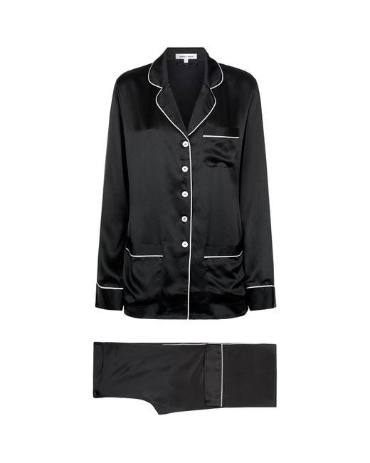 Lyst - Olivia Von Halle Coco Silk Pyjamas in Black - Save 21% 2d26b9dc5