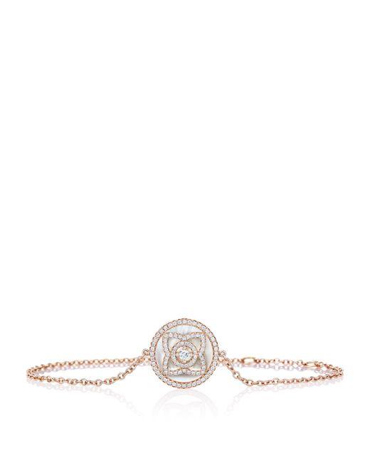 De Beers - Metallic Rose Gold And Mother Of Pearl Enchanted Lotus Bracelet - Lyst