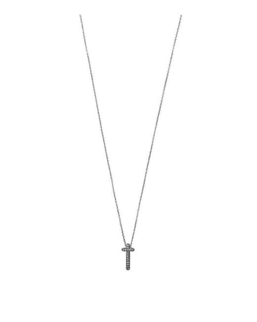 Theo Fennell | White Mini Spangle Cross Pendant | Lyst