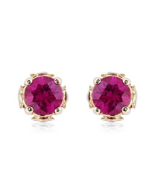 Theo Fennell | Purple Ruby Chinese Blossom Bud Earrings | Lyst