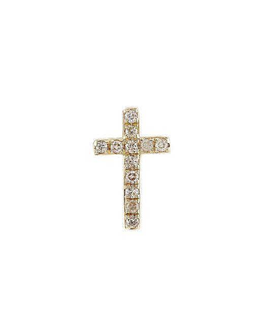 Sydney Evan | Metallic Cross Stud Earring | Lyst