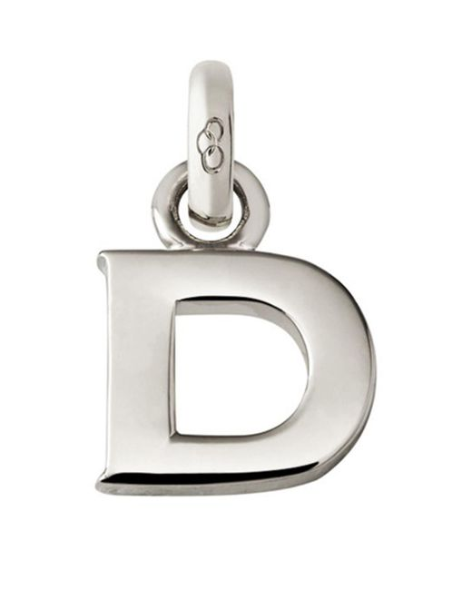 Links of London - Metallic Sterling Silver Letter D Charm - Lyst