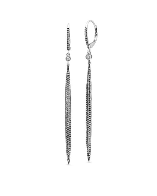 Kenza Lee - Black Spear Drop Earrings - Lyst