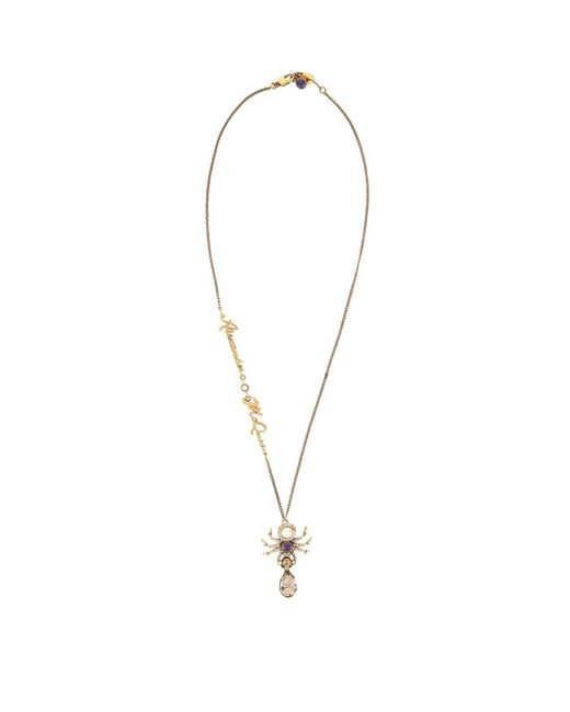 Alexander McQueen - Metallic Spider Pendant Necklace - Lyst
