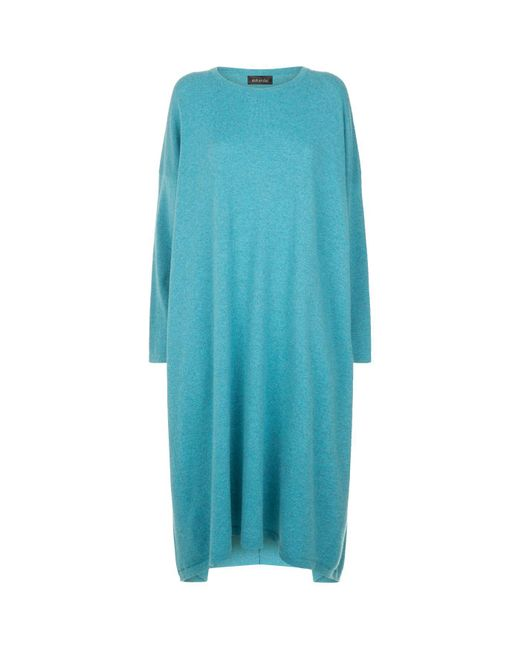 Eskandar - Blue Cashmere Midi Dress - Lyst
