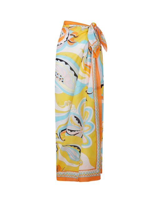 Emilio Pucci - Multicolor Patterned Pareo - Lyst