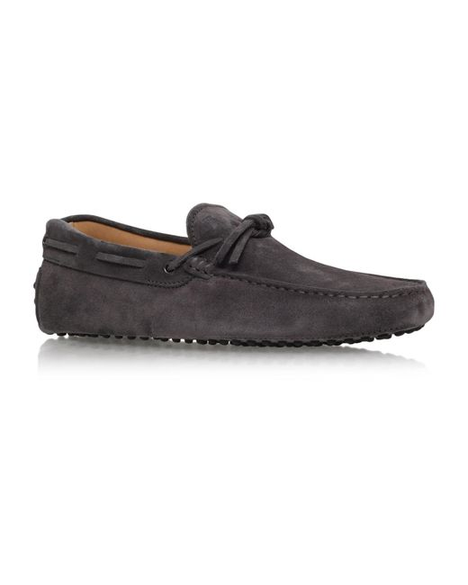 Tod's | Gray City Tie Driver Shoes for Men | Lyst