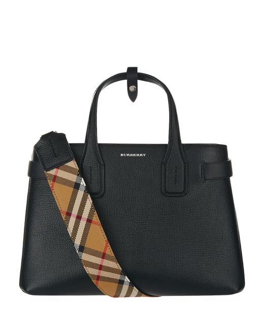 Burberry - Black Small Banner Tote Bag - Lyst