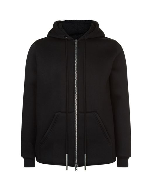 Givenchy   Black Neoprene Zip-up Hoodie for Men   Lyst