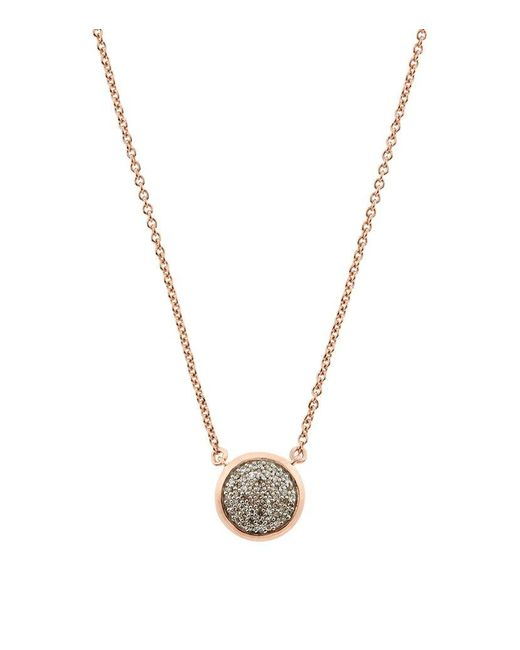 Links of London | Pink Diamond Essentials Pave Round Necklace | Lyst