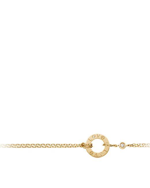 Cartier | Metallic Yellow Gold Love Double Chain Bracelet | Lyst