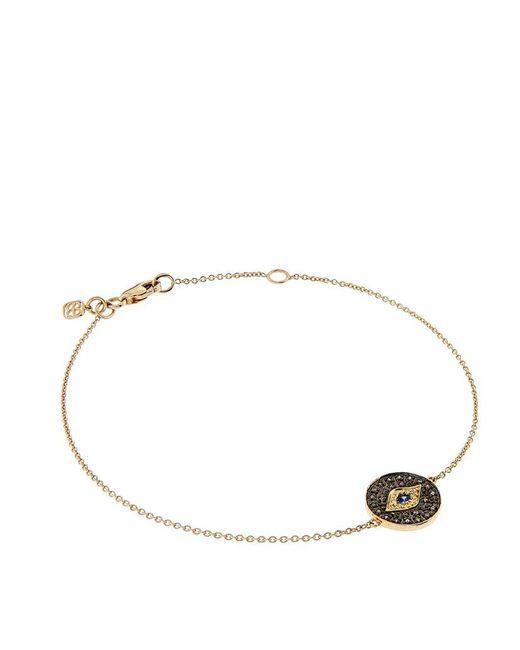 Sydney Evan   Metallic Small Pavé Diamond Evil Eye Medallion Bracelet   Lyst