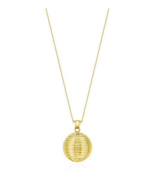 Theo Fennell | Metallic Gold Whip Ball Pendant | Lyst