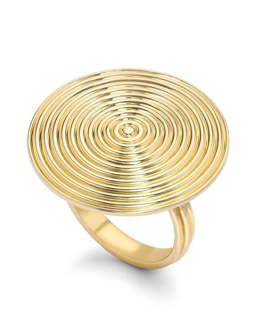 Theo Fennell | Metallic Gold Whip Disc Ring | Lyst