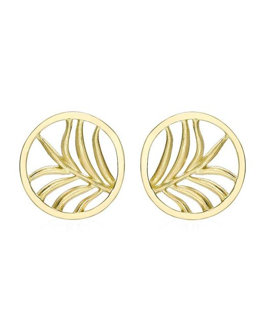 Theo Fennell | Metallic Large Palm Diamond Disc Earrings | Lyst