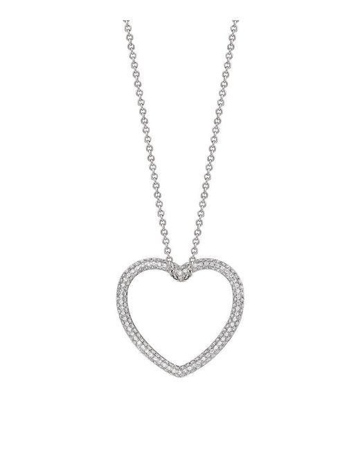 Theo Fennell | White Diamond Blaze Heart Pendant | Lyst