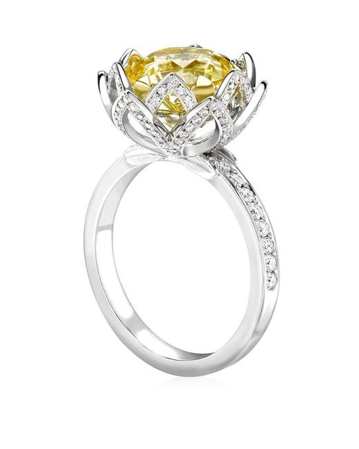 Theo Fennell | Yellow Water Lily Ring | Lyst