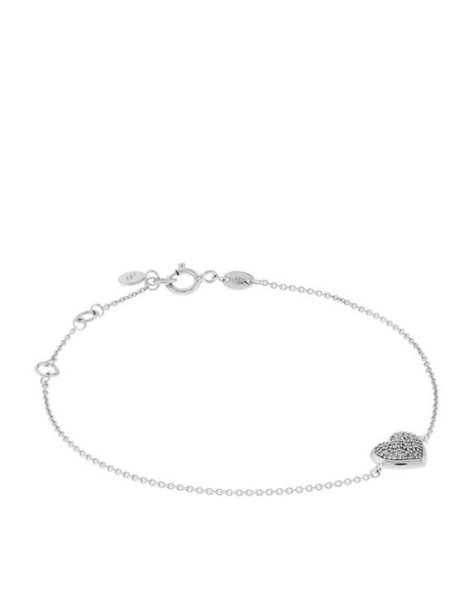 Links of London | Metallic Diamond Essentials Pavé Heart Bracelet | Lyst