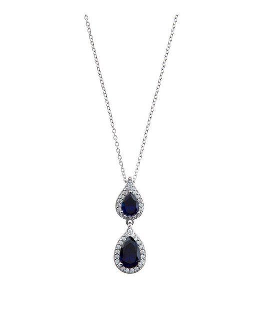 Carat* | Blue 1.5ct Fancy Pear Sapphire Pendant | Lyst