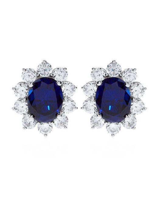 Carat* | Blue 2ct Fancy Oval Sapphire Stud Earrings | Lyst
