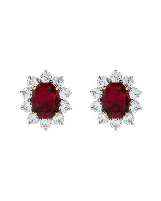 Carat* | Pink 2ct Fancy Oval Ruby Stud Earrings | Lyst