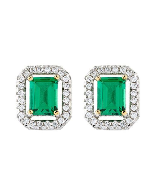 Carat* | Green 0.5ct Emerald Border Asscher Stud Earrings | Lyst