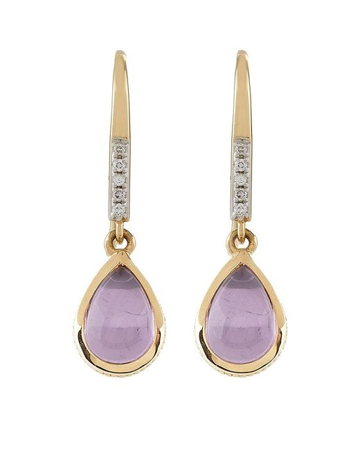Links of London | Purple Luna Gems Amethyst Drop Earrings | Lyst