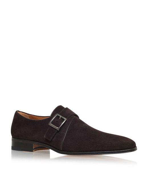 Stemar | Brown Single Buckle Monk Shoe for Men | Lyst