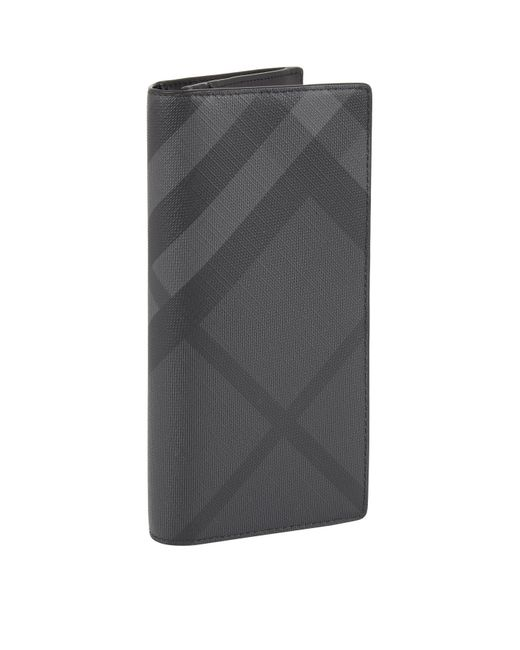 Burberry - Gray London Check Bifold Cavendish Wallet for Men - Lyst