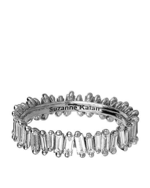 Suzanne Kalan | Metallic White Gold Baguette Diamond Ring | Lyst
