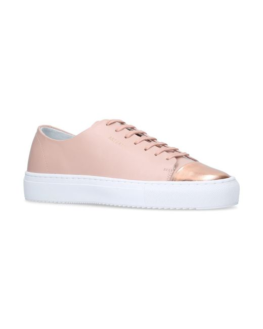 Axel Arigato - Pink Leather Cap-toe Sneakers - Lyst