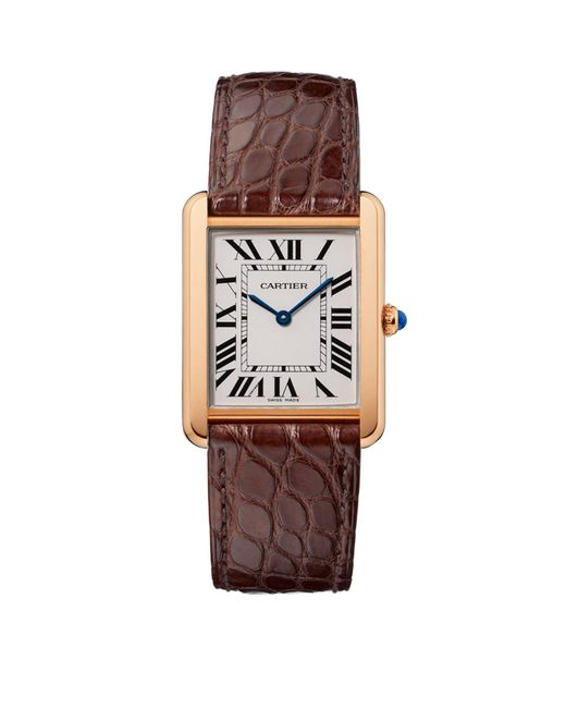 Cartier - Multicolor Large Pink Gold Tank Solo Watch 27mm - Lyst