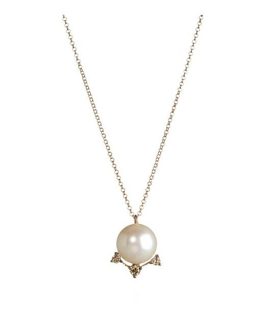 Annoushka | Metallic Diamonds And Pearls Pendant Necklace | Lyst