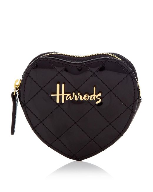 Harrods - Black Christie Heart Purse - Lyst